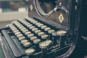 Copywriter Web Site Typewriter Photo